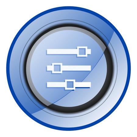 Slider blue glossy web icon Imagens