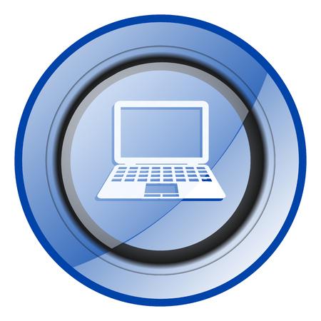 Computer blue glossy web icon Reklamní fotografie