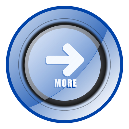 More blue glossy web icon Stock Photo