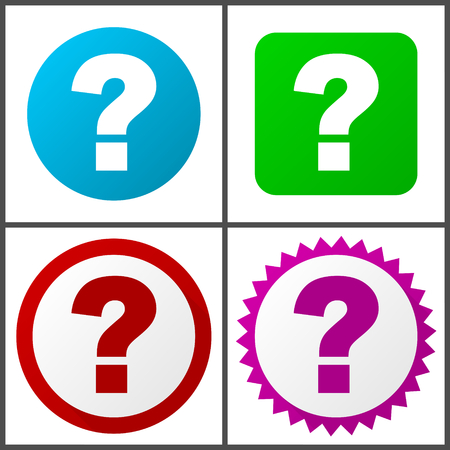 Question mark vector icons set in eps 10