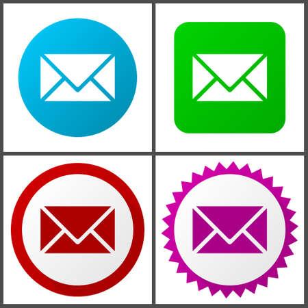 Iconos vectoriales de correo electrónico en eps 10