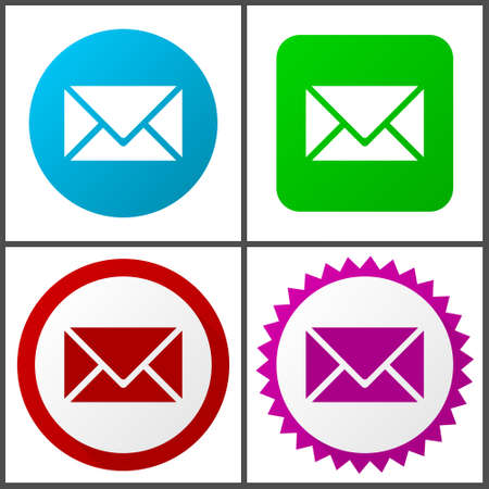 Email vector icons set in eps 10 Illustration