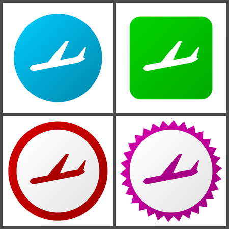 Arrivals vector icons set in eps 10