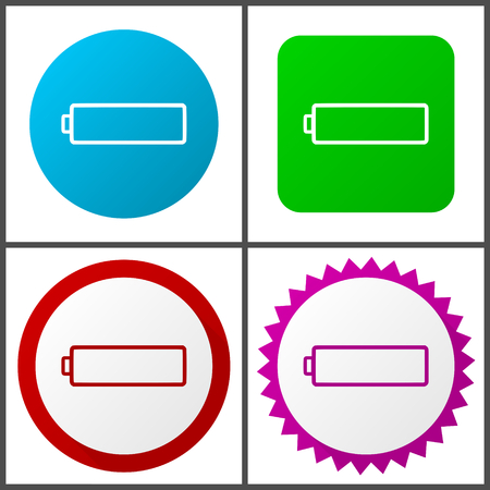 Battery Flat design signs and symbols easy to edit
