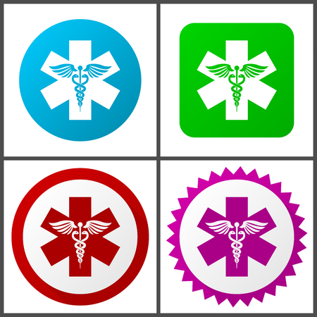Emergency Flat design signs and symbols easy to edit
