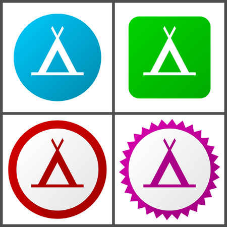 Camp Flat design signs and symbols easy to edit
