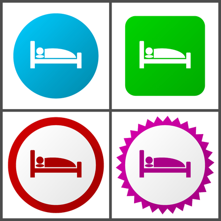 Hotel Flat design signs and symbols easy to edit