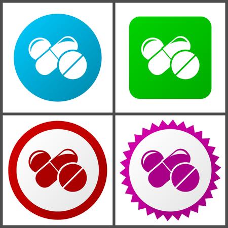 Signes et symboles de conception plate de médecine faciles à modifier