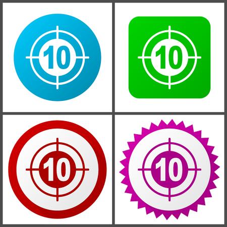 Target Flat design signs and symbols easy to edit Illustration
