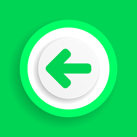 left arrow vector green icon Illustration