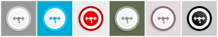 Water icon set, vector illustrations in 6 options for web design and mobile applications