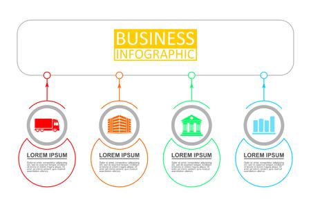Modèle d'infographie vectorielle pour workflow, diagramme, graphique, présentation, graphique, concept d'entreprise