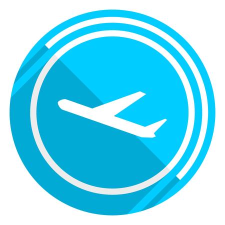 Abfahrten flaches Design blaues Websymbol, einfach zu bearbeitende Vektorgrafik für Webdesign und mobile Anwendungen Vektorgrafik