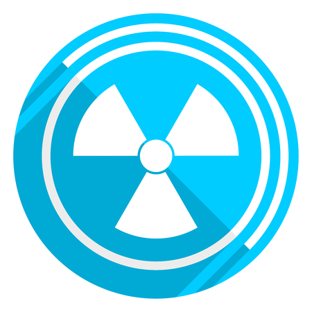 Radiation flat design blue web icon, easy to edit vector illustration for webdesign and mobile applications Imagens - 117860568