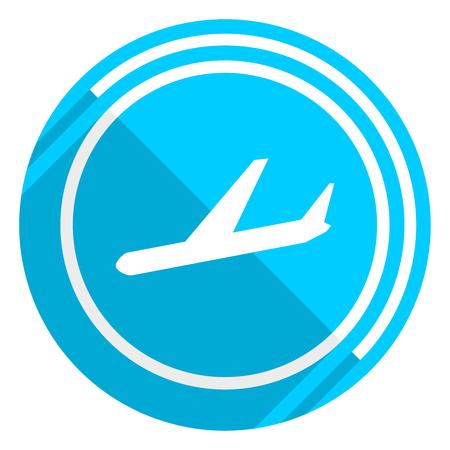 Arrivals flat design blue web icon, easy to edit vector illustration for webdesign and mobile applications Ilustração