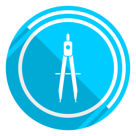Learning flat design blue web icon, easy to edit vector illustration for webdesign and mobile applications