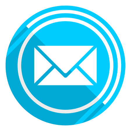 Email flat design blue web icon, easy to edit vector illustration for webdesign and mobile applications