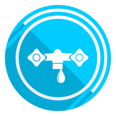 Water flat design blue web icon, easy to edit vector illustration for webdesign and mobile applications