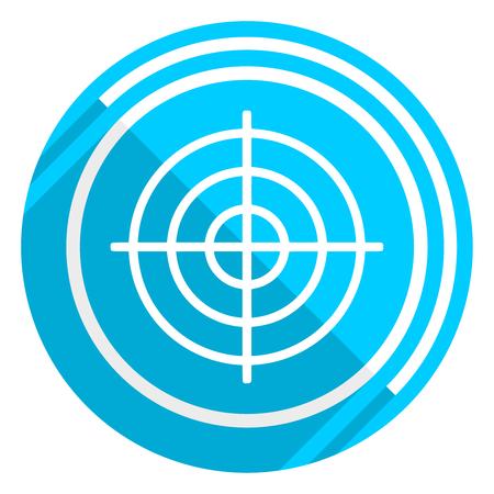 Target flat design blue web icon, easy to edit vector illustration for webdesign and mobile applications Illustration