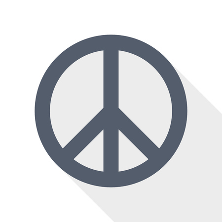 Peace, no war icon, vector illustration, pacifist concept sign