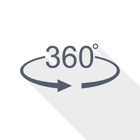 360-Grad-Panoramasymbol, Vektorillustration