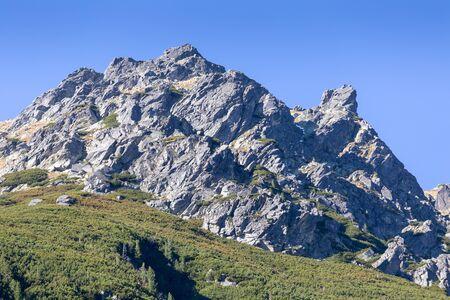 Rocks inTatra mountains view from Morskie Oko Lake