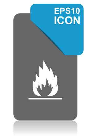 Flame black and blue vector pointer icon on white background in eps 10