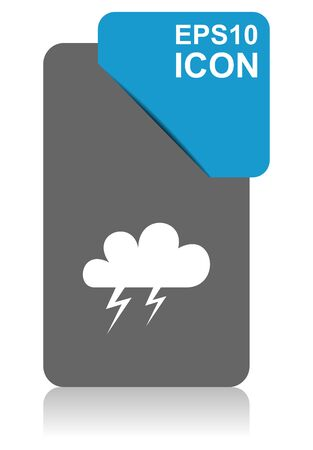 Storm black and blue vector pointer icon on white background in eps 10