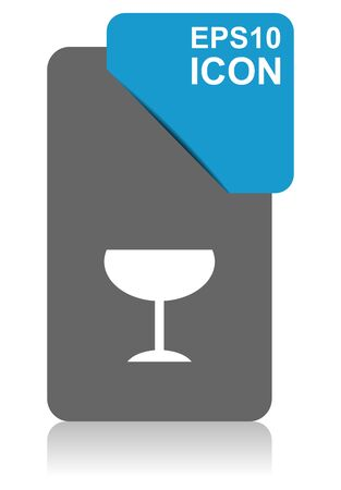 Alcohol black and blue vector pointer icon on white background in eps 10