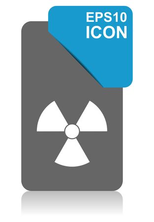 Radiation black and blue vector pointer icon on white background in eps 10 Иллюстрация