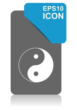 Ying yang black and blue vector pointer icon on white background in eps 10