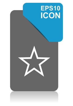 Star black and blue vector pointer icon on white background in eps 10