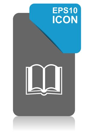 Book black and blue vector pointer icon on white background in eps 10