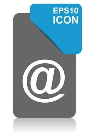 Email black and blue vector pointer icon on white background in eps 10 Иллюстрация
