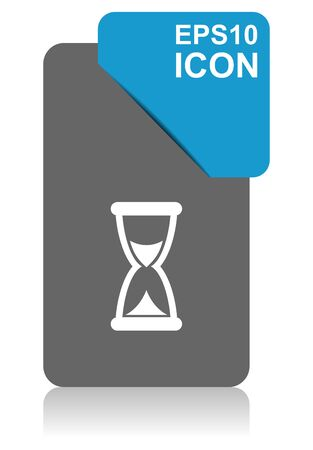 Time black and blue vector pointer icon on white background 向量圖像