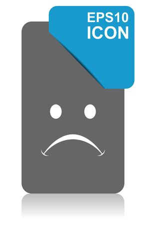Cry black and blue vector pointer icon on white background