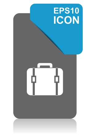 Bag black and blue vector pointer icon on white background in eps 10