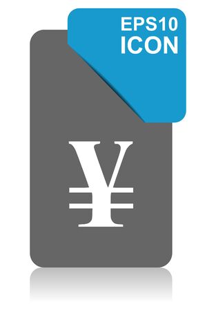 Yen black and blue vector pointer icon on white background in eps 10 向量圖像
