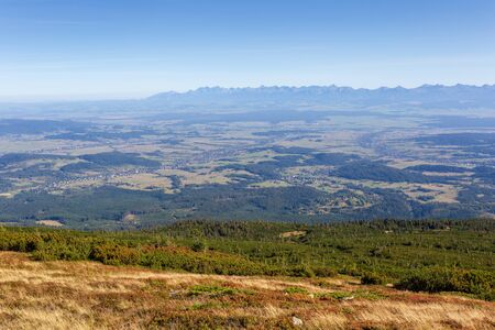 High mountains landscape, view from Diablak to Tatra Mountains