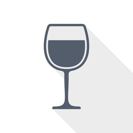 alcohol flat icon, glass vector illustration for apps design and webdesign