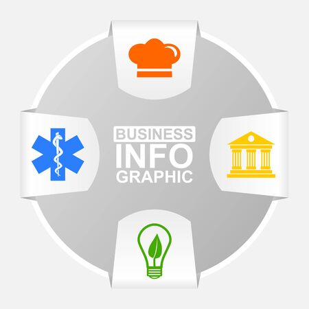 Modern design infographic vector editable template for presentation, chart, diagram, graph, business, medicine and technology concept with 4 options