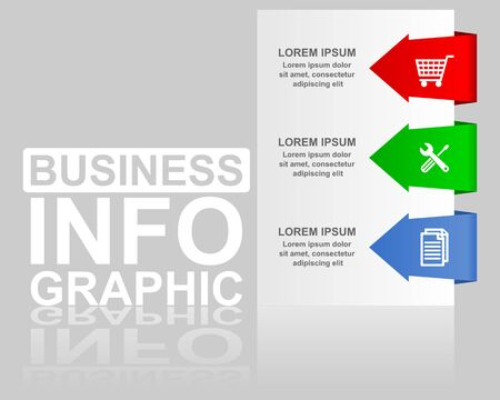 Infographic vector template for presentation, chart, diagram, graph, business and technology concept with 3 options Stock Illustratie