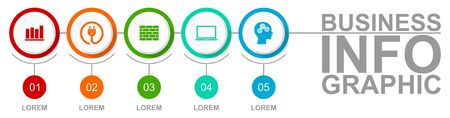 Infographic  template for business presentation, diagram, workflow concept on white