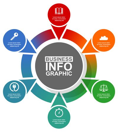 Infographic circular vector template for presentation