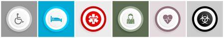 Medical  symbol icon set on white
