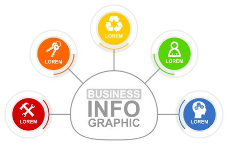 Infographic vector template for business presentation