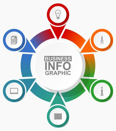 Infographic circular vector template for presentation on white