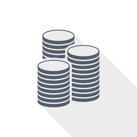 Money vector icon, business and finance concept flat design illustration Ilustracja