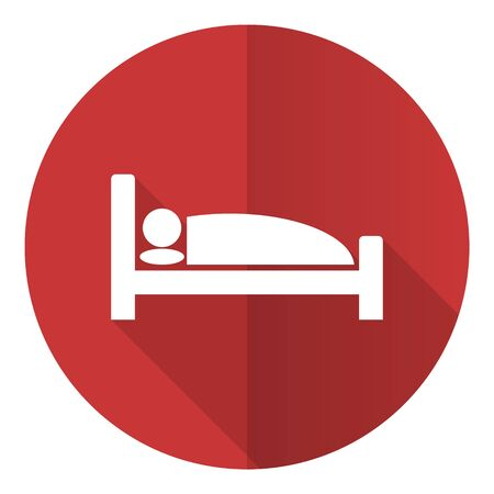 Hotel flat design vector icon