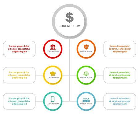 Infographic vector template, business web presentation Ilustração